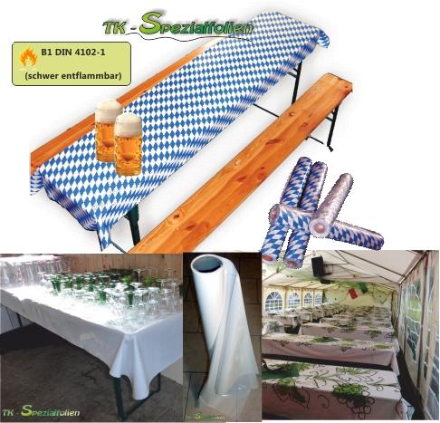 tischdecke folie bierzeltgarnitur festzeltgarnitur tischdecken tischfolie b1 ebay. Black Bedroom Furniture Sets. Home Design Ideas